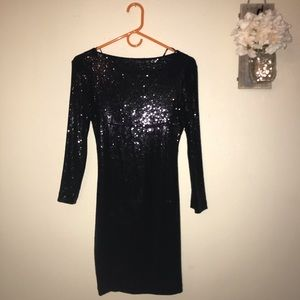 Alli and Ro sequined dress backless flattering